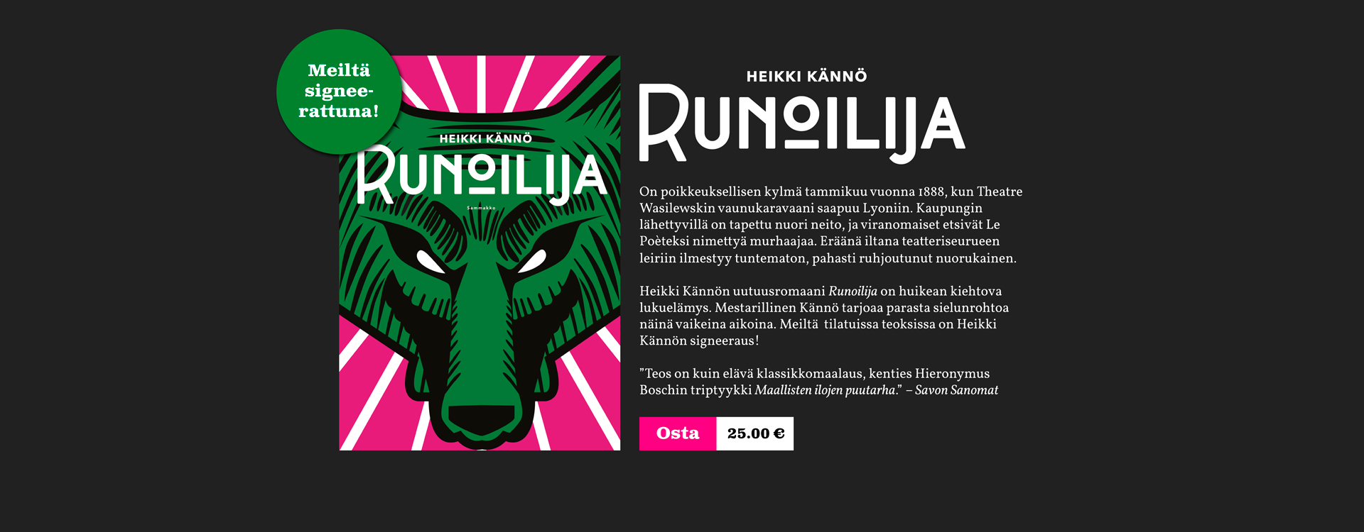 Runoilija-slidemainos